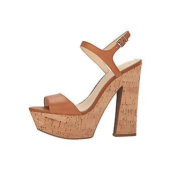 Jessica Simpson Womens Divella Leather Open Toe Ankle Strap Platform Pumps