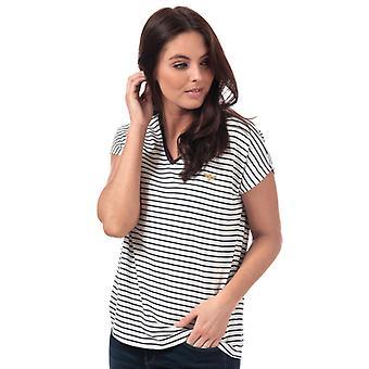 Women's Vero Moda Clia Bee Gestreept T-shirt in wit