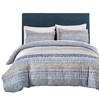 YANGFAN Sanded Fine Silk Printed Bedding 3Pcs/2Pcs Set
