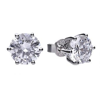 Diamonfire E5631 Claw Set 4ct Solitaire Earrings