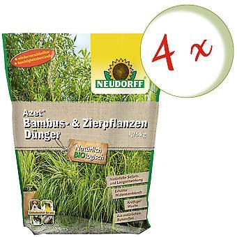 Sparset: 4 x NEWDORFF Azet® Bambu & Koristeruoho lannoite, 1,75 kg