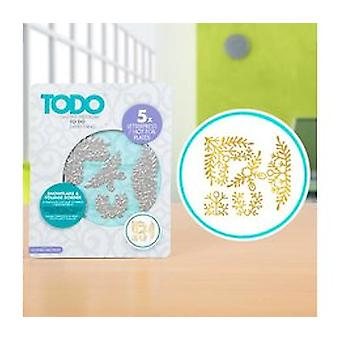 TODO Hot Foil Press Snowflake & Foliage Border