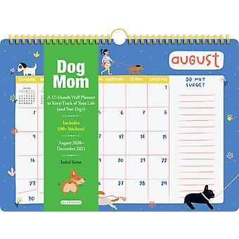 2021 Dog Mom 17Month Wall Planner by Serna & Isabel