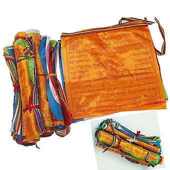 Artificial Silk Tibet Lung Ta Scriptures Banner Flags - Tibetan Buddhist
