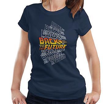Back To The Future Classic Katmanlı Logo Women's T-Shirt