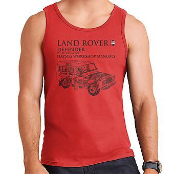 Haynes omistajat työpaja käsikirja 3017 Land Rover Defender musta miesten liivi