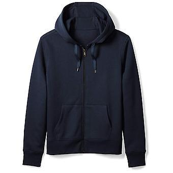 Essentials Men's Full-Zip Hooded Fleece Sweatshirt, Navy, Medium