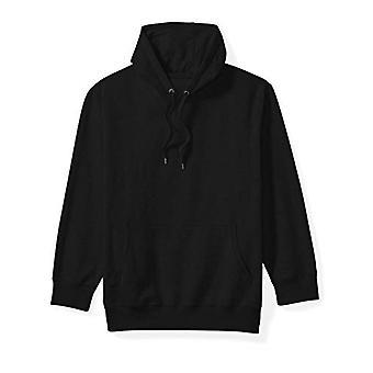 Essentials Men's Big and Tall Hooded Fleece Sweatshirt fit by DXL, Black, 3XLT