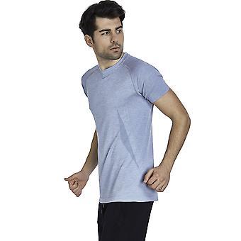 Jerf Mens Condor Blue Melange Tee Shirt