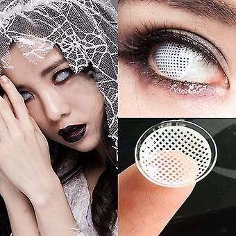White Mesh Large Diameter Eyes Cosmetic Colored Contact Lens Cosplay Contact Lenses For Halloween