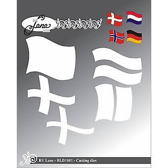 By Lene Cutting Dies Large Flag