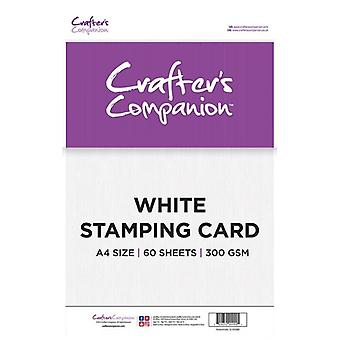 Crafter's Companion Crafter's Companion White Stamping Card A4
