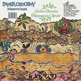 Decorer Secret Garden 12x12 Inch Paper Pack