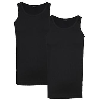 BOSS Bodywear Two Pack Slim Fit Black Tank Top Vests