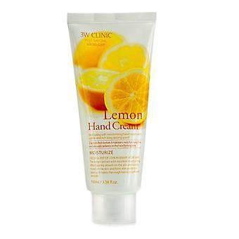Creme de mãos de clínica 3W - limão 100ml/3,38 oz