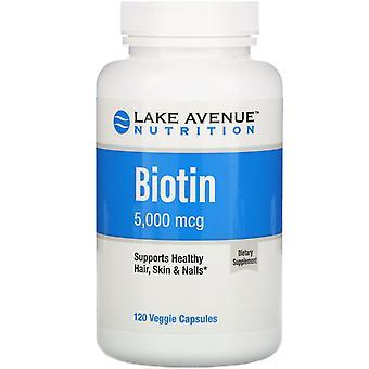 Lake Avenue Voeding, Biotine, 5.000 mcg, 120 Veggie Capsules