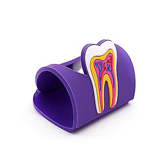 1pc Dental Teeth Shape Name Card Holder - Colorful Cute Dental Rubber Card