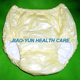 Yellow M Pvc/ Adult Diaper/ Incontinence Pants