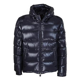 Moncler 1a5450068950742 Men's Blue Nylon Down Jacket