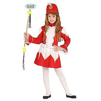 Guirca süßes Cheerleader Tamburin Major Kostüm für Mädchen Karneval Fasching Tanzauftritt
