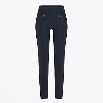 Cambio  - Rainbow - Slim-leg Pants With Pocket Detail - Navy