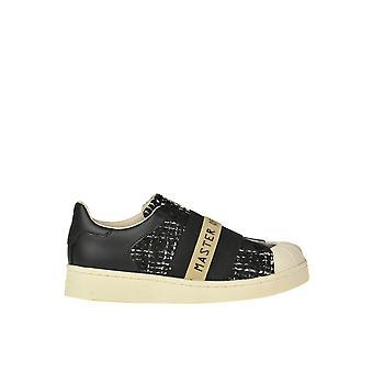 Moa Ezgl230018 Women's Black Leather Slip On Sneakers