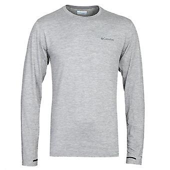 Columbia Tech Trail grau Heather Langarm T-Shirt