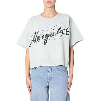 Mm6 Maison Margiela S32gc0519s25387611 Dames's Green Cotton T-shirt