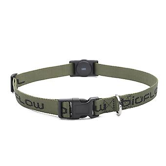 Magnetic Dog Collar Olive (Size: Large - Up to 65cm)