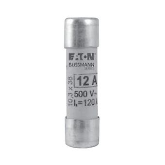 Bussman C10M10 10A AM 500Vac 10x38mm Cylindrical Fuse