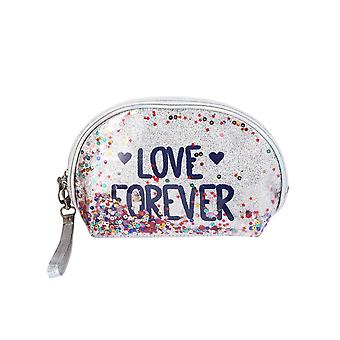 Homemiyn Sequin Makeup Bag With Interlayer