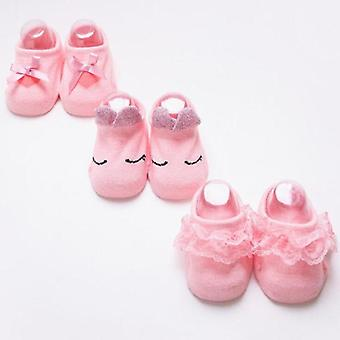 Anti-slip Lace Bowsocks For Girl