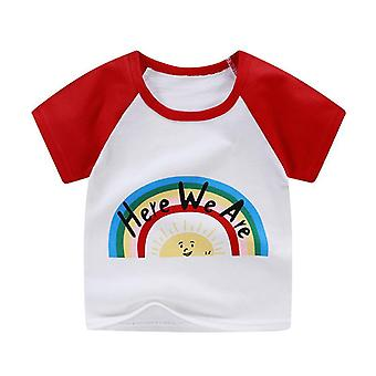 Newborn Baby T-shirts For Summer Cotton Cartoon Unicorn Printing Tops T-shirt Children's Clothes