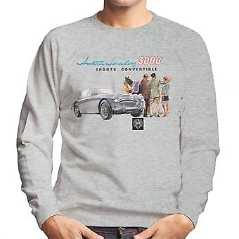 Austin Healey 3000 Sports Convertible British Motor Heritage Men's Sweatshirt