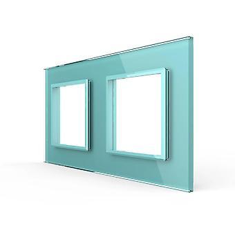 Luxury Pearl Crystal Glasseu Standard Podwójny szklany panel do gniazda przełącznika ściennego (4 kolory)