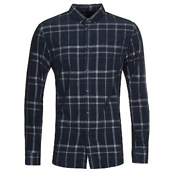 Camicia Armani Exchange Corduroy Navy Check