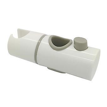 EcoSpa 22mm Hand Shower Riser Rail Head Slider Clamp Holder Bracket in White