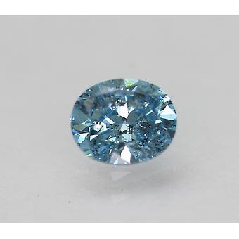 Cert 0.34 قيراط السماء الزرقاء SI2 البيضاوي المحسن الطبيعية فضفاضة الماس 4.71x3.91mm 2VG
