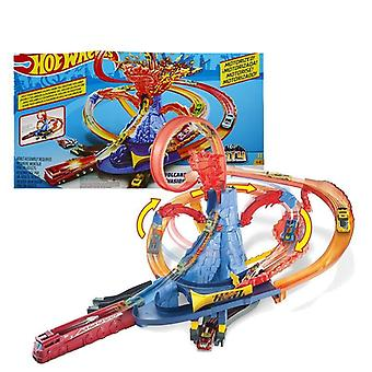 Hot Wheels Track, Electric City Car, Square Auto Lift Expressway Model