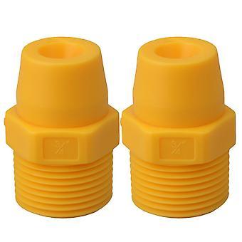 2x Spray munstycke Sprinkler Huvud 3/4 för kylning gul 4,9 hål Dia