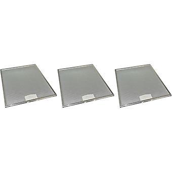 3 x univerzální digestoř kovový tukový filtr 284mm x 352mm
