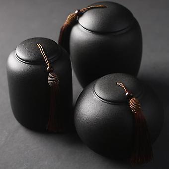 Schwarze Feuerbestattung Urnen für Haustier menschliche Asche - Keramik Urne kleine Andenken Beerdigung