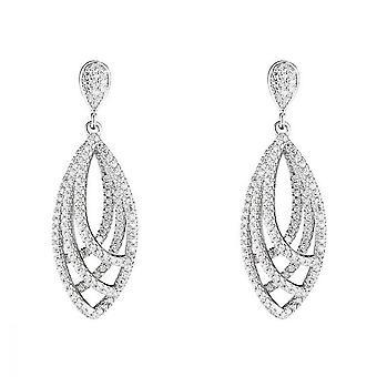 Zilveren oorbellen 925 en Zirkonium