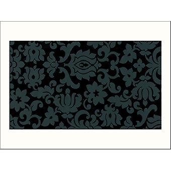 Fablon 45cm x 2m Classic Ornament Black FAB10108
