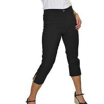 iscoolfashion kvinners høy midje tynn stretchpedal pushers beskåret bukser