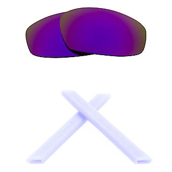 Replacement Lenses Kit for Oakley Split Jacket Purple Mirror White Anti-Scratch Anti-Glare UV400 by SeekOptics
