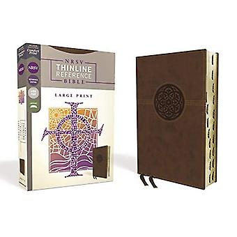 NRSV, Thinline Reference Bible, Large Print, Leathersoft, Brown, Indexed,� Comfort Print
