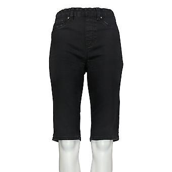 DG2 by Diane Gilman Women's Shorts Black Jean Pull-on Cotton 675-686