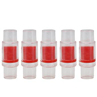 5 Pieces One Way Water Non Return Check Valve 20-20mm Interface Red