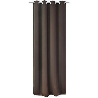 فيدا إكسل ستائر التعتيم مع معدن يفصل 270 × 245 سم البني